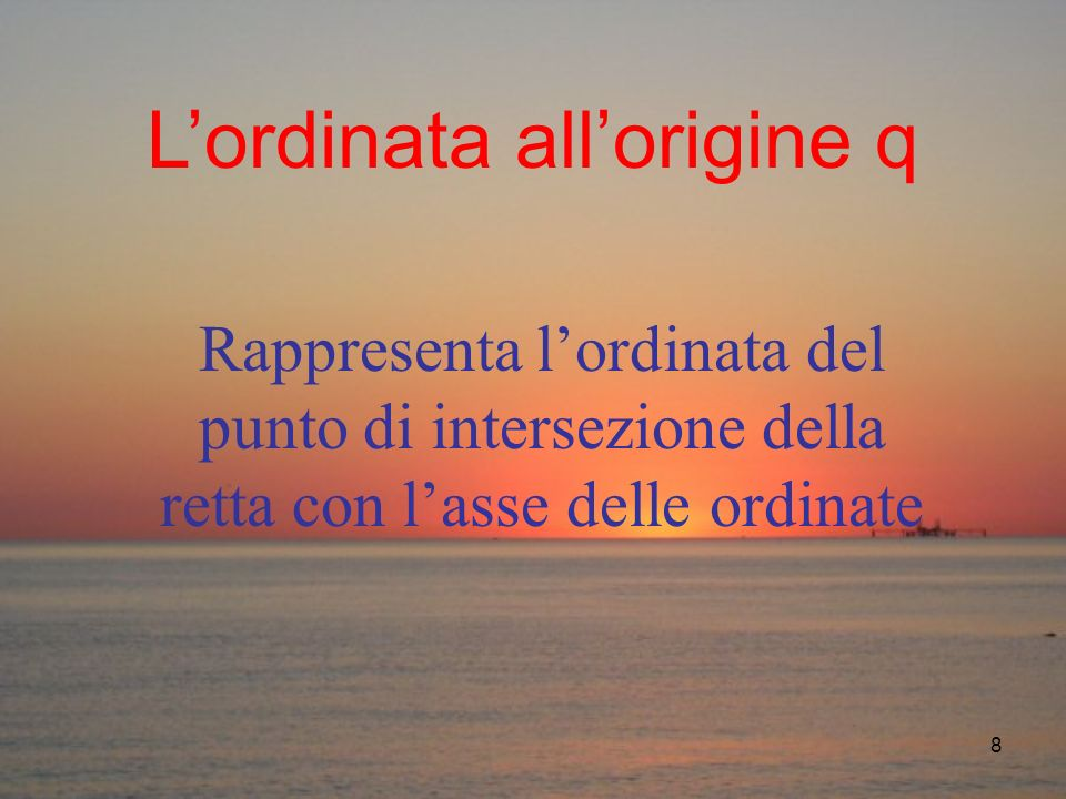 L'ordinata all'origine q