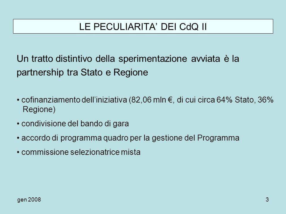 LE PECULIARITA' DEI CdQ II