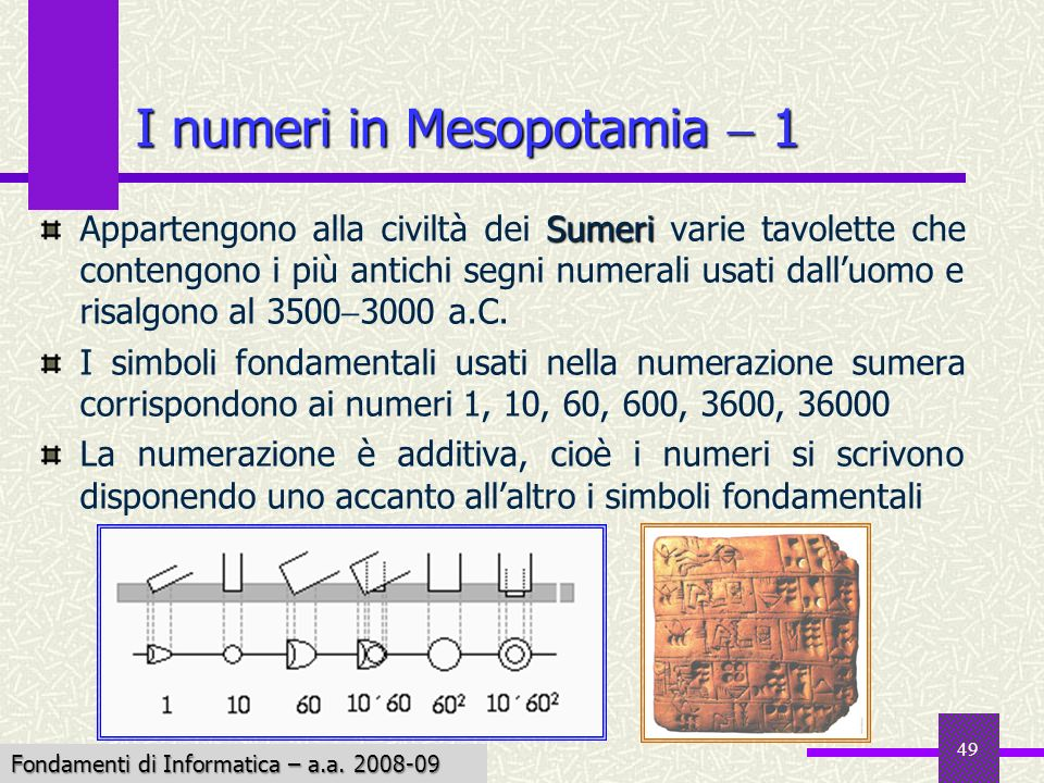 I numeri in Mesopotamia  1