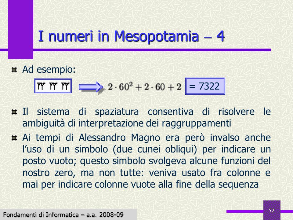 I numeri in Mesopotamia  4