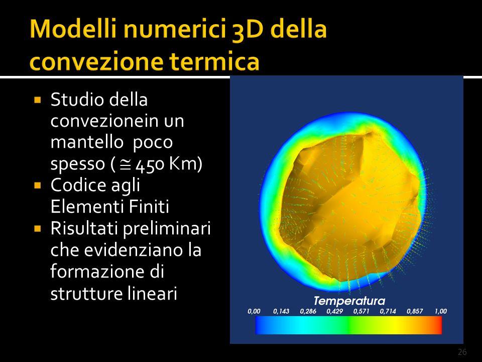 Modelli numerici 3D della convezione termica