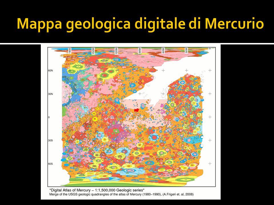 Mappa geologica digitale di Mercurio