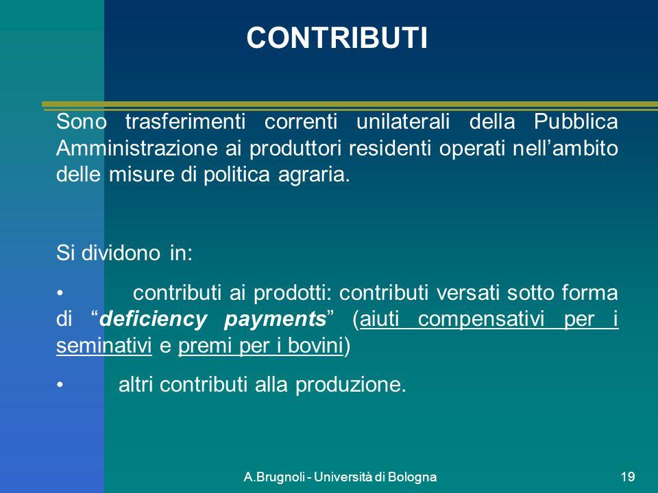 A.Brugnoli - Università di Bologna