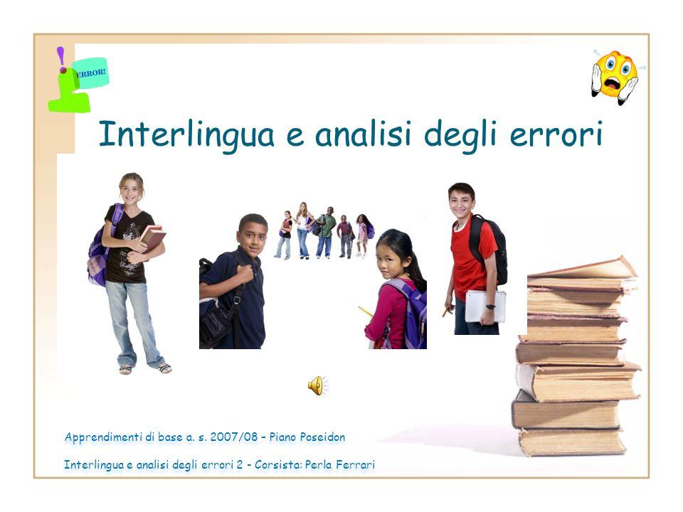 Interlingua e analisi degli errori