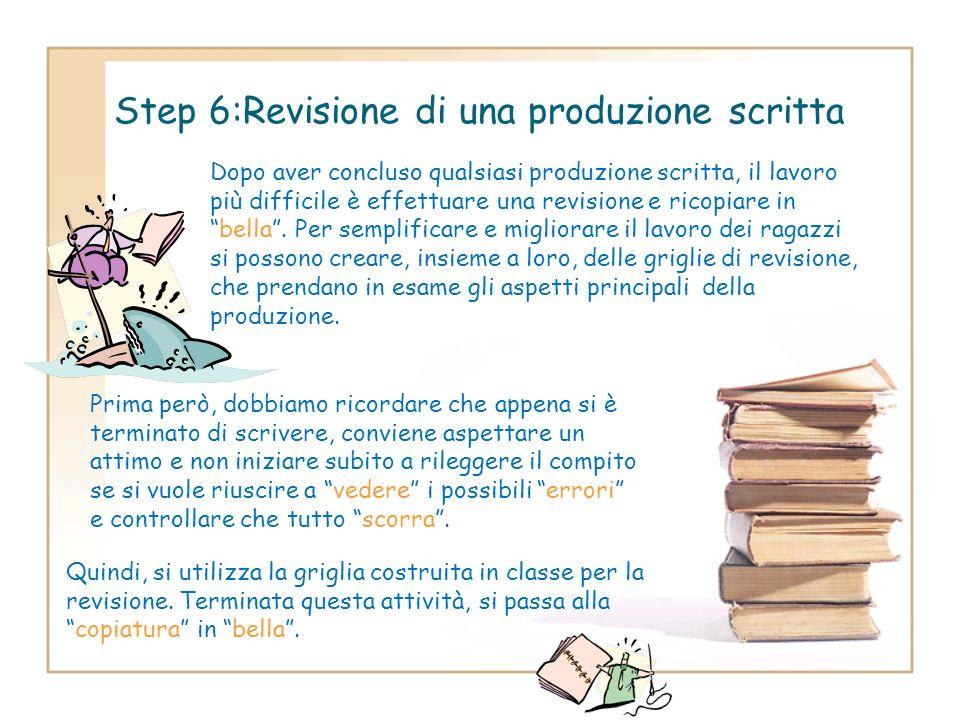 Step 6:Revisione di una produzione scritta