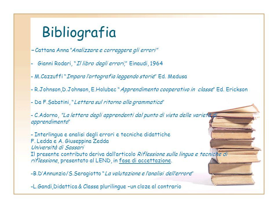 Bibliografia -Cattana Anna Analizzare e correggere gli errori