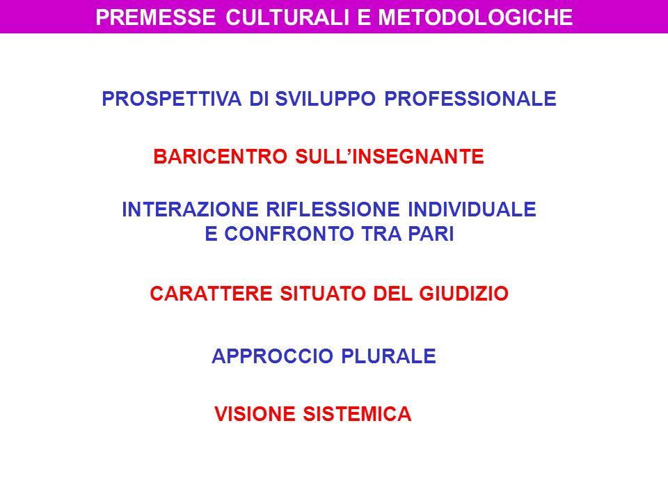 PREMESSE CULTURALI E METODOLOGICHE