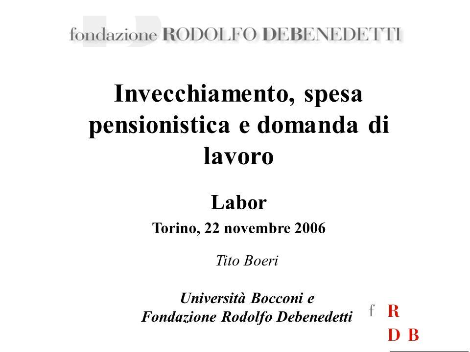 Invecchiamento, spesa pensionistica e domanda di lavoro