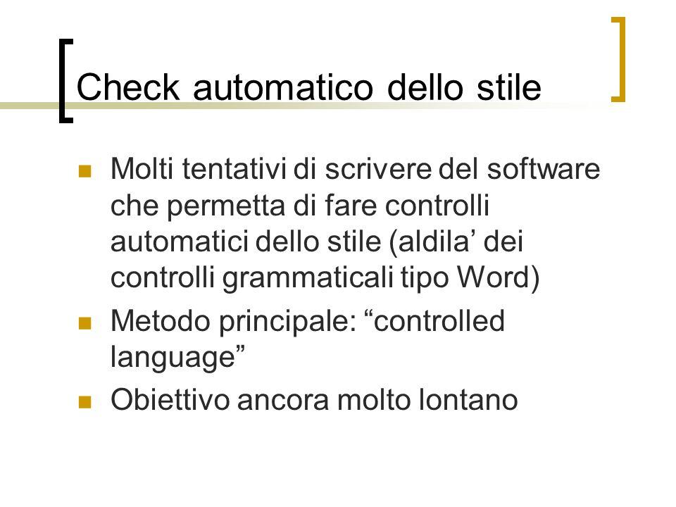Check automatico dello stile