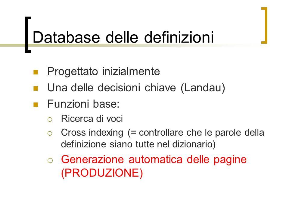 Database delle definizioni