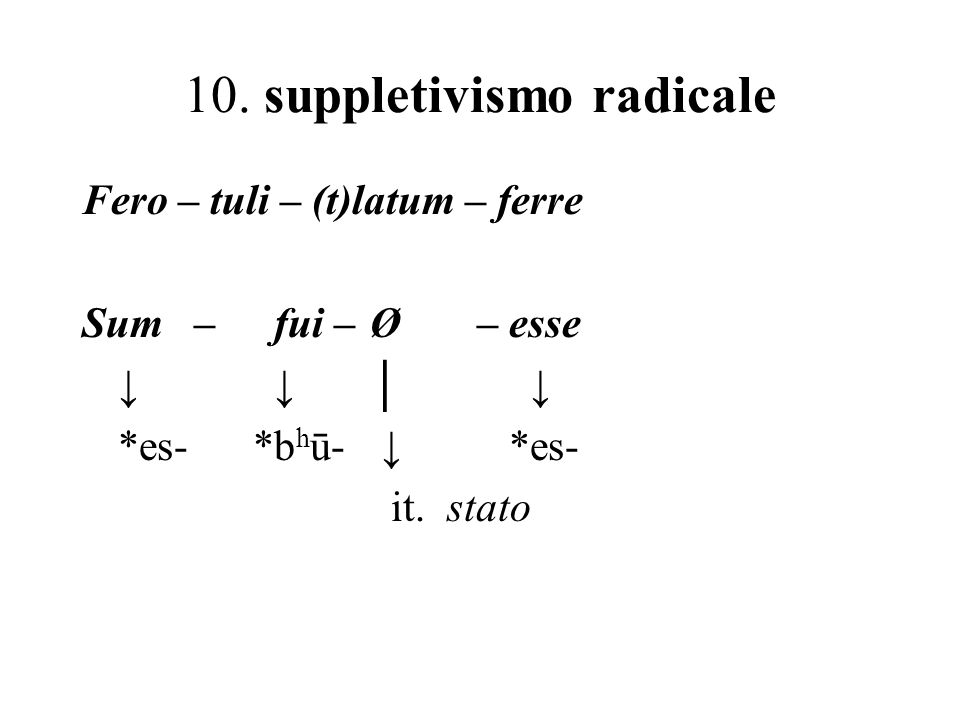 10. suppletivismo radicale