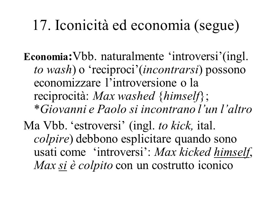 17. Iconicità ed economia (segue)