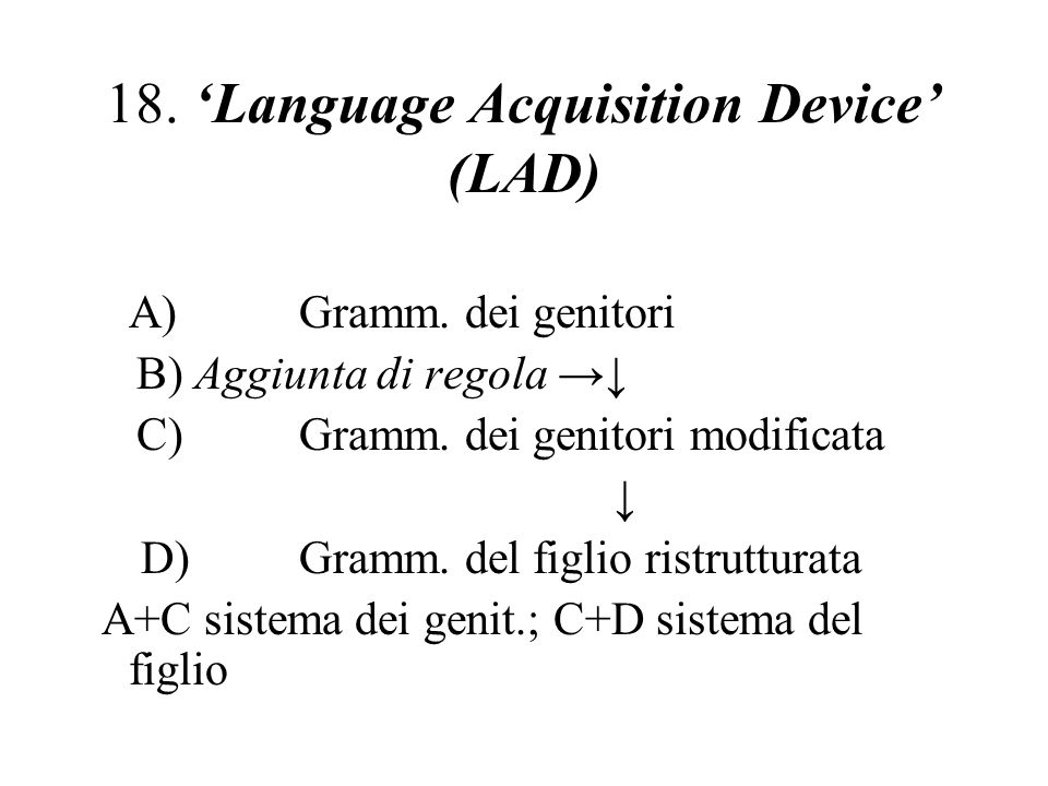 18. 'Language Acquisition Device' (LAD)