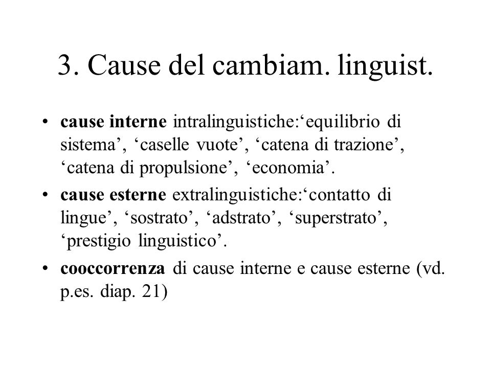 3. Cause del cambiam. linguist.
