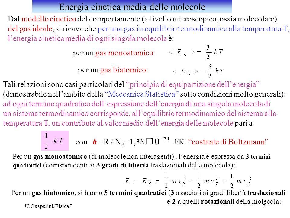 Energia cinetica media delle molecole
