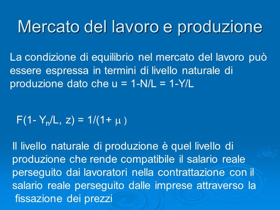 Mercato del lavoro e produzione