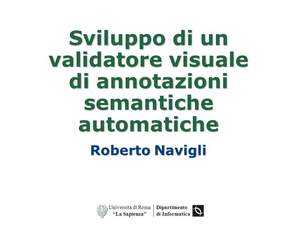 Sviluppo di un validatore visuale di annotazioni semantiche automatiche