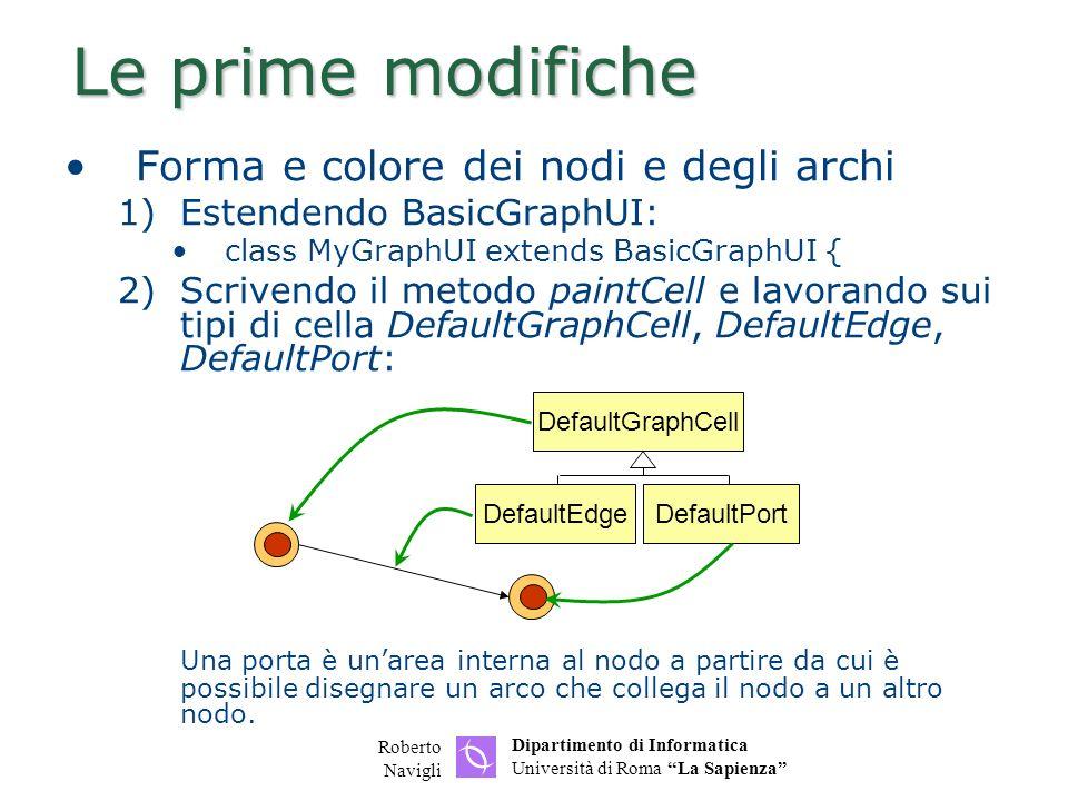 Le prime modifiche Forma e colore dei nodi e degli archi