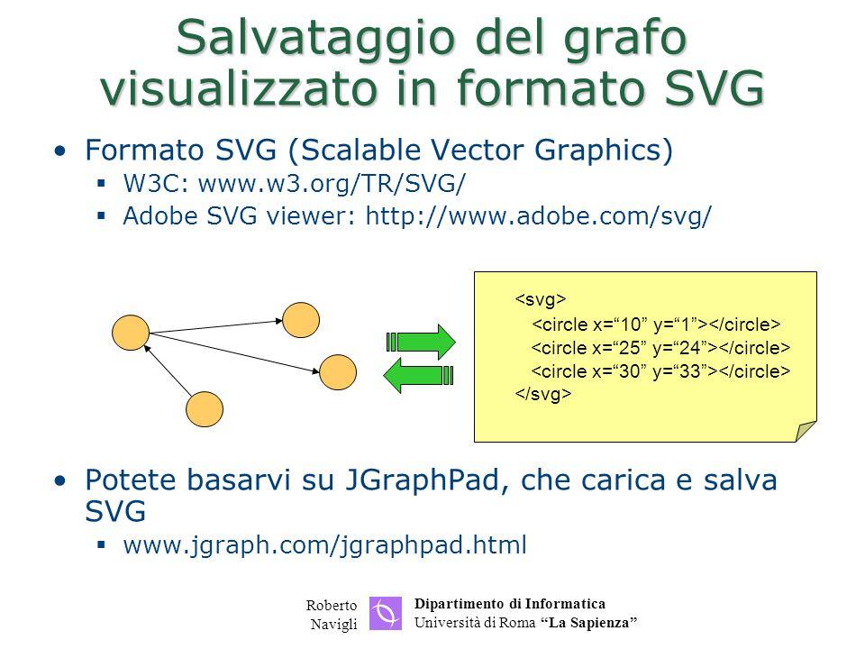 Salvataggio del grafo visualizzato in formato SVG