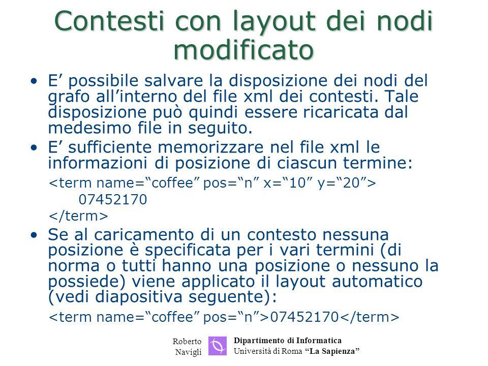Contesti con layout dei nodi modificato