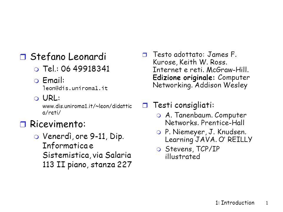 Stefano Leonardi Ricevimento: Tel.: 06 49918341