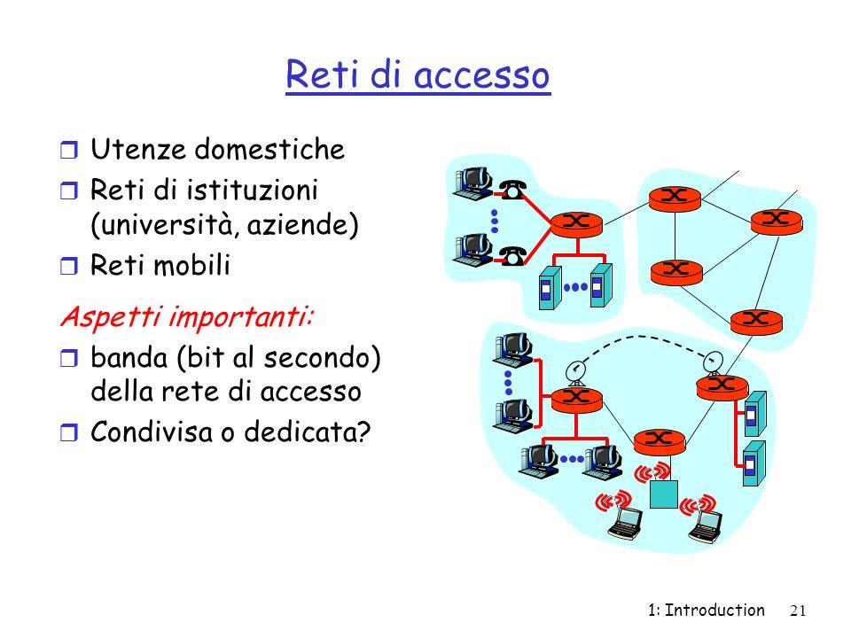 Reti di accesso Utenze domestiche