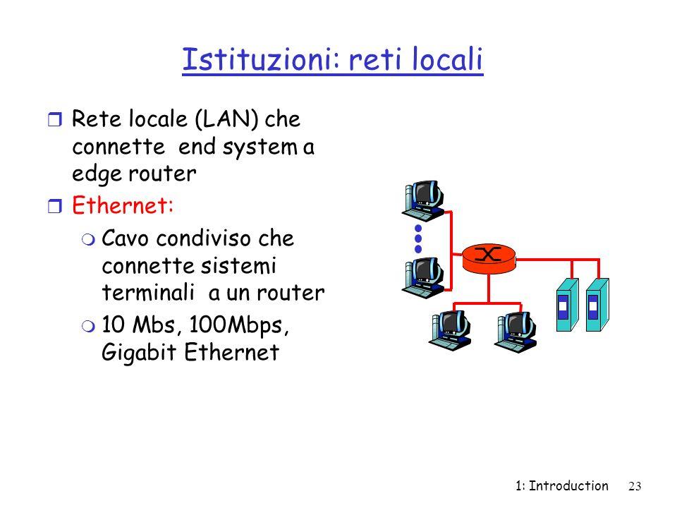 Istituzioni: reti locali