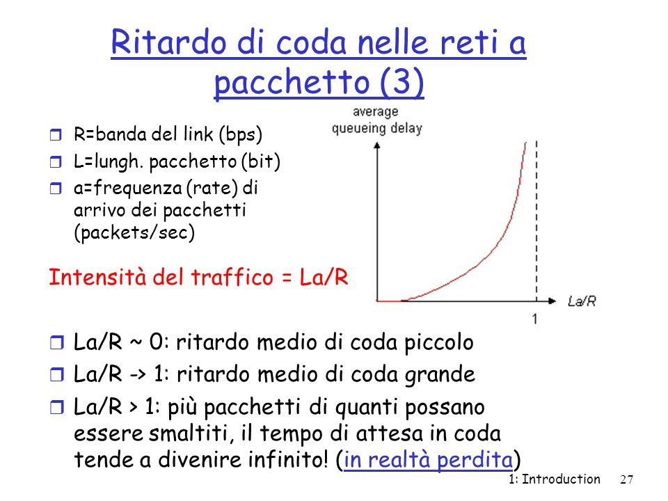 Ritardo di coda nelle reti a pacchetto (3)