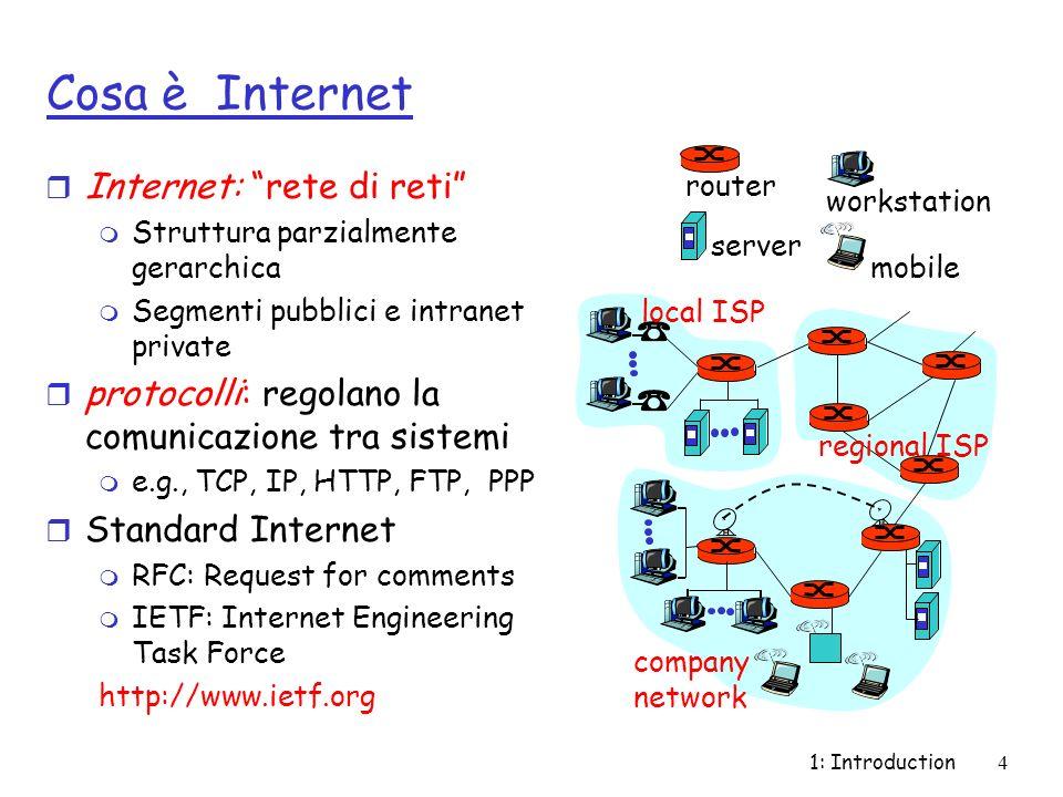 Cosa è Internet Internet: rete di reti