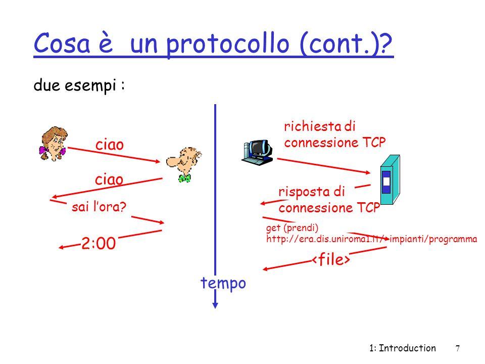 Cosa è un protocollo (cont.)