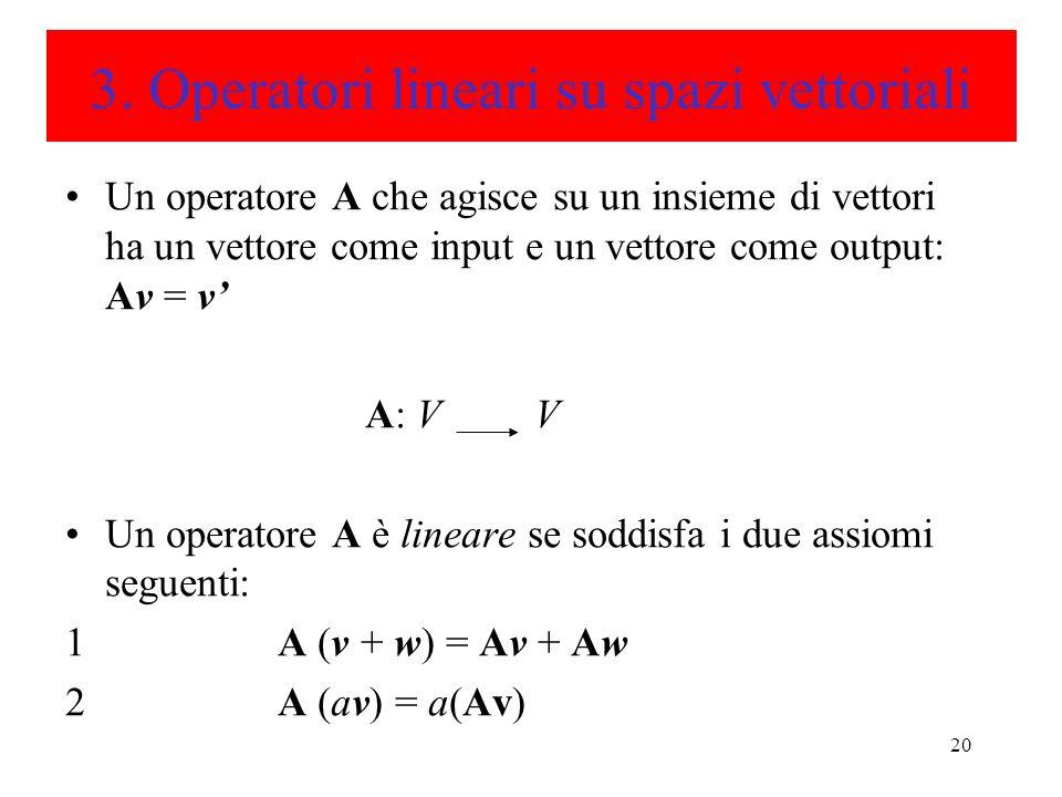 3. Operatori lineari su spazi vettoriali