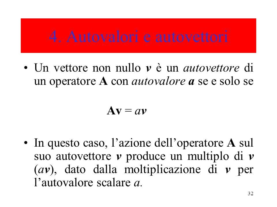 4. Autovalori e autovettori