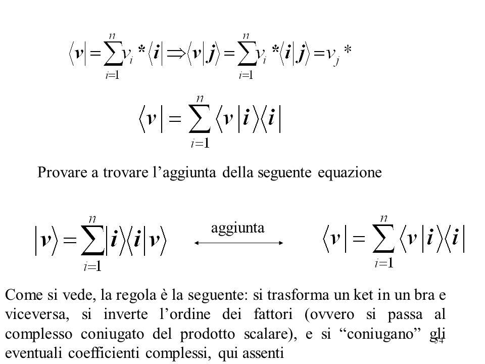 Provare a trovare l'aggiunta della seguente equazione