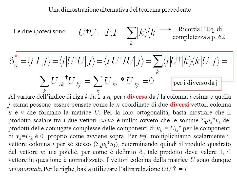 Una dimostrazione alternativa del teorema precedente