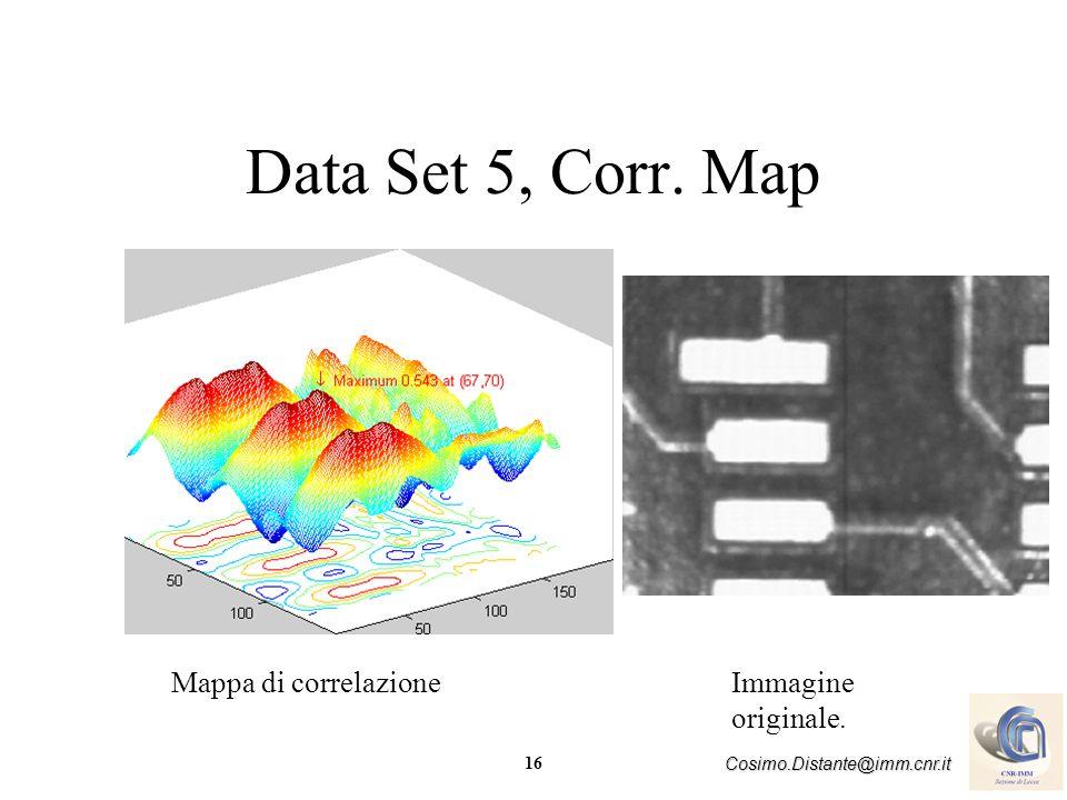 Data Set 5, Corr. Map Mappa di correlazione Immagine originale.
