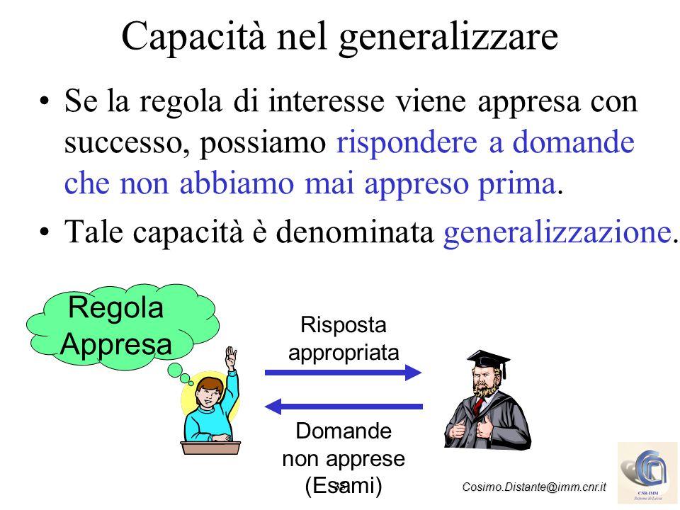 Capacità nel generalizzare