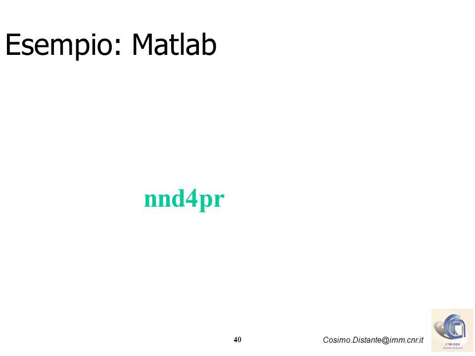 Esempio: Matlab nnd4pr