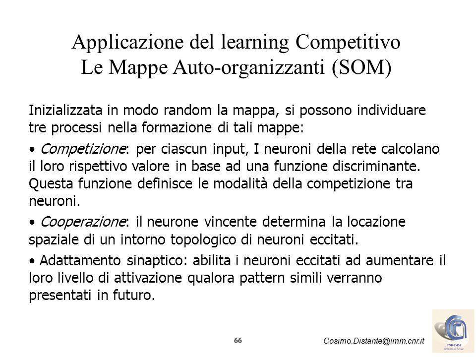 Applicazione del learning Competitivo Le Mappe Auto-organizzanti (SOM)