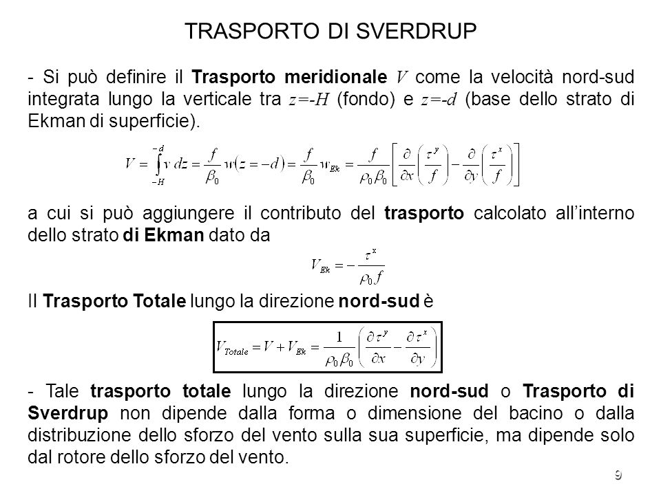 TRASPORTO DI SVERDRUP