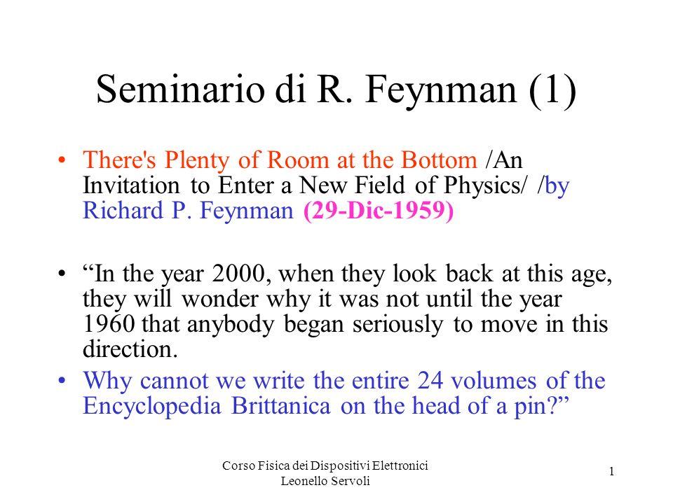 Seminario di R. Feynman (1)