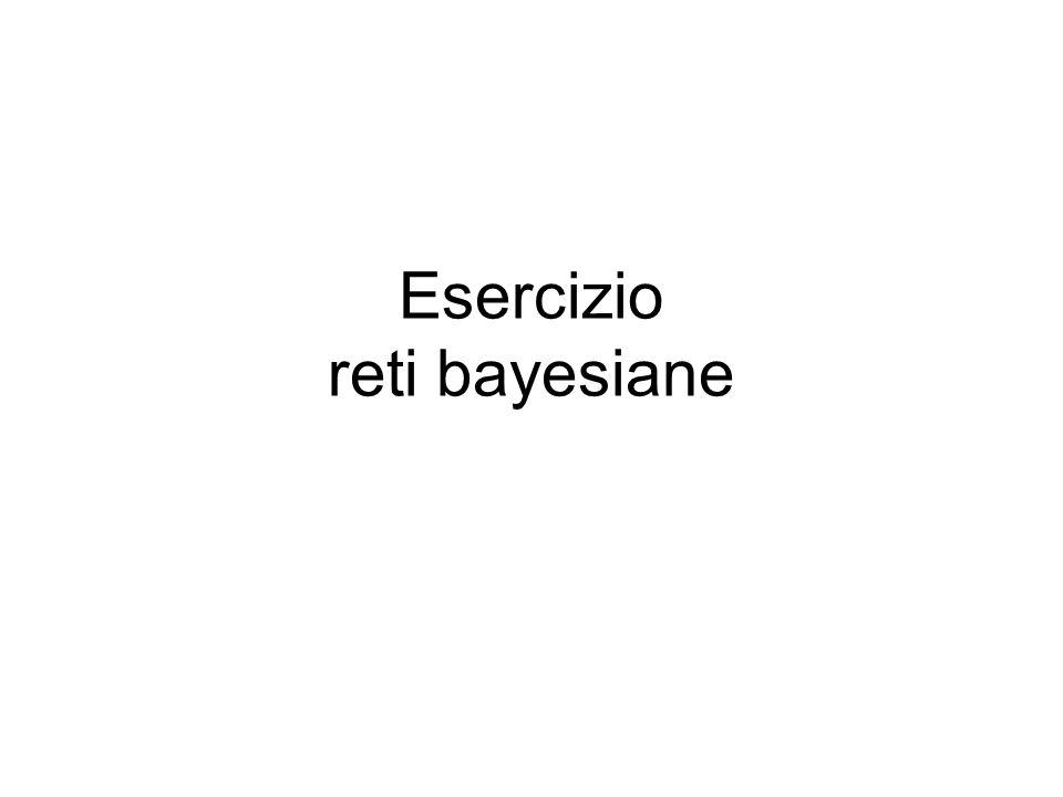 Esercizio reti bayesiane