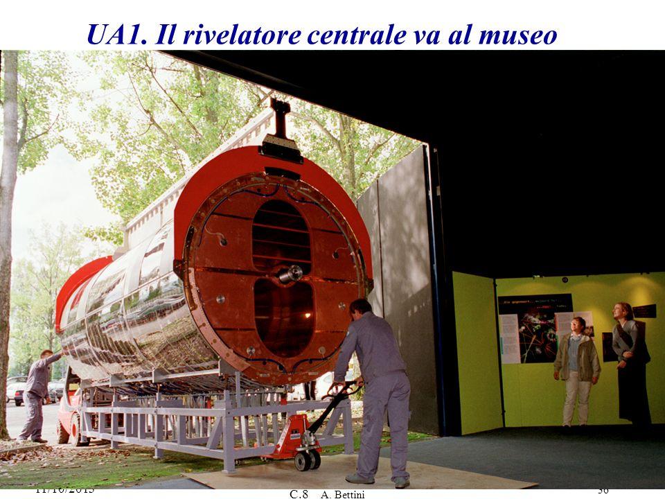 UA1. Il rivelatore centrale va al museo