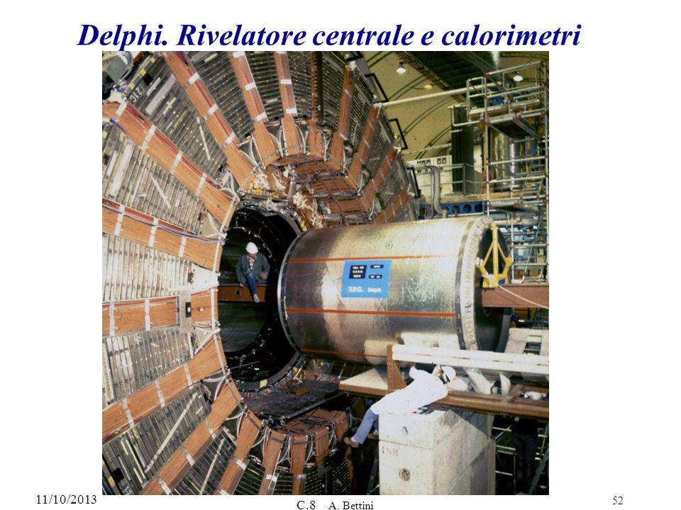 Delphi. Rivelatore centrale e calorimetri