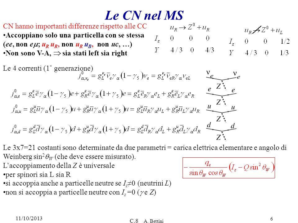 Le CN nel MS CN hanno importanti differenze rispetto alle CC