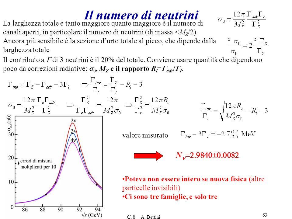 Il numero di neutrini Nn=2.9840±0.0082