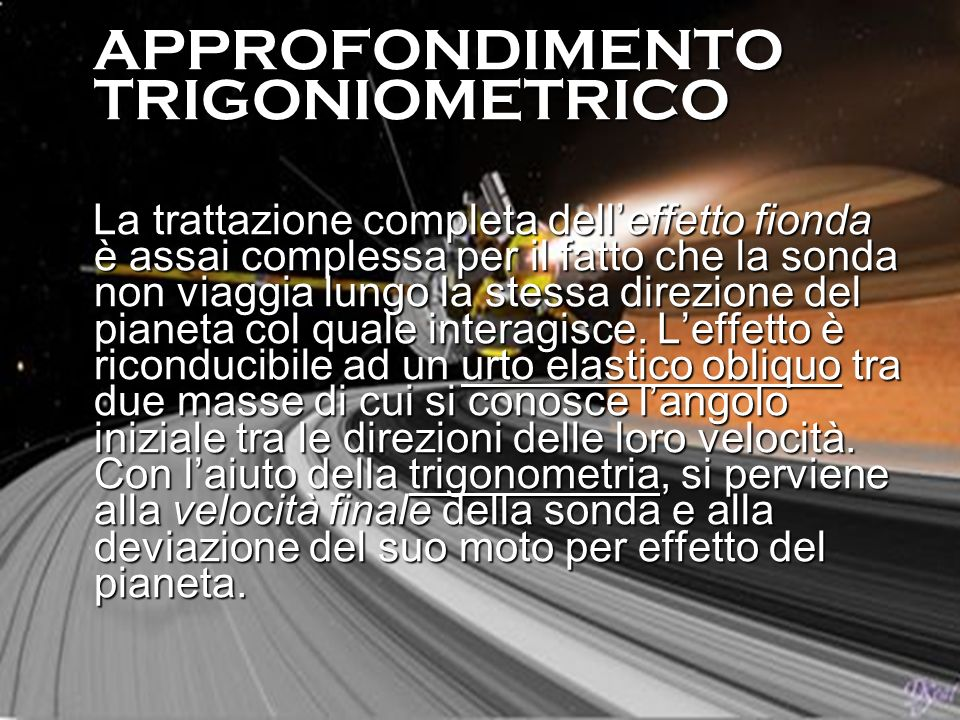 APPROFONDIMENTO TRIGONOMETRICO
