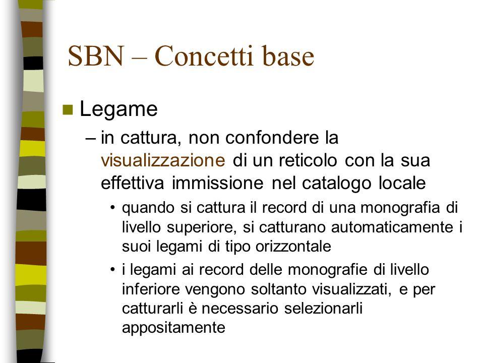 SBN – Concetti base Legame