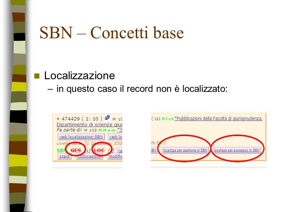 SBN – Concetti base Localizzazione
