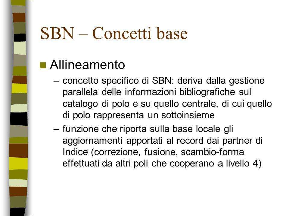 SBN – Concetti base Allineamento