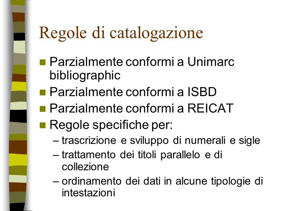 Regole di catalogazione